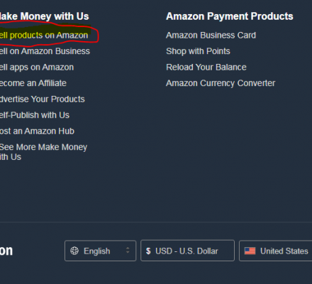 Chọn Sell products on Amazon